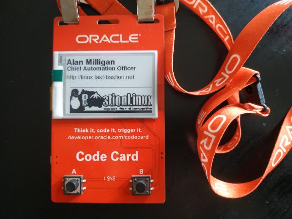 Oracle CodeCard